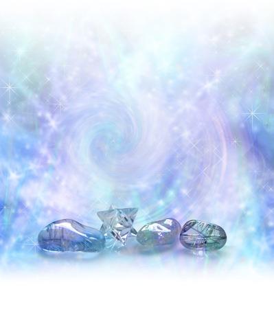 마법의 크리스탈 치유 에너지 필드