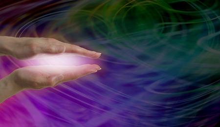 spirit healer: Healer working with magenta energy