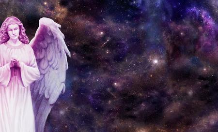 Engel waakt over u Stockfoto