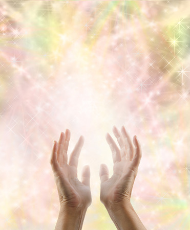 universal healer: Sensing magical energy Stock Photo