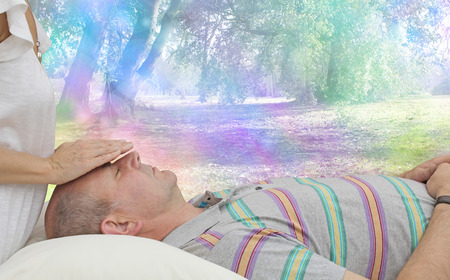 color healing: Balancing Male Patients Third Eye Chakra