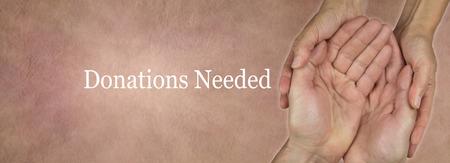 needed: Donations Needed Website Banner