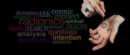 Dowsing with a crystal pendulum  website header