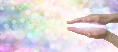 feminine hands: Rainbow Healers Website Banner