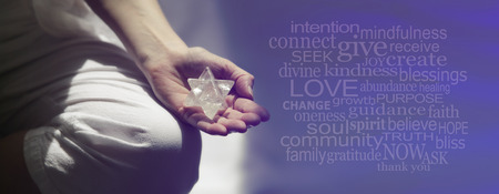 Mindfulness Meditatie Word Cloud Banner Stockfoto