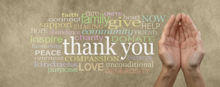 thanks you: Charitable Request for Donations Banner