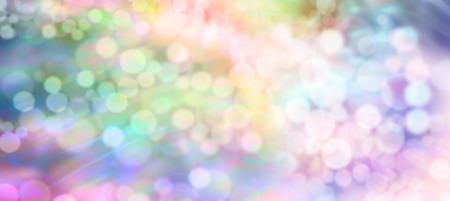 Multicolored rainbow bokeh website header background banner