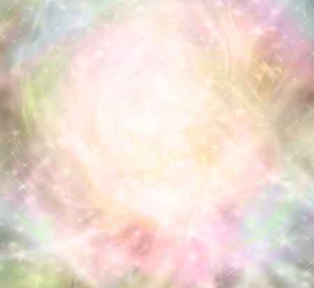 energy healing: Ethereal magical fairy like background - ethereal background  with a central light area surrounded by random sparkles, pastel colors and random patterns