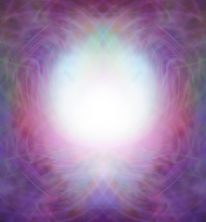 energy field: Ethereal Symmetrical Energy Field Border - pink and purple intricate swirling lines flowing to form a border with a central bubble of light in a brandy glass shaped central panel Stock Photo