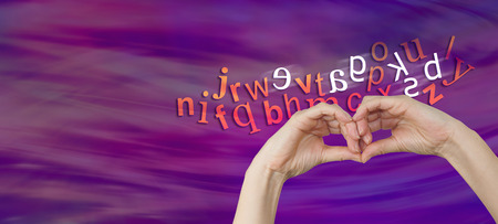 phonetic: What a person with dyslexia sees - a pair of female hands making an eye mask shape with a cloud of letters behind and six characters reversed depicting dyslexia