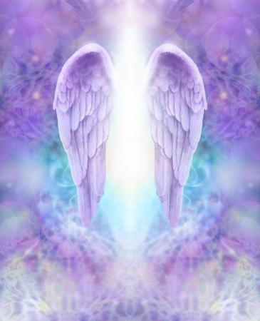 라일락 천사 날개