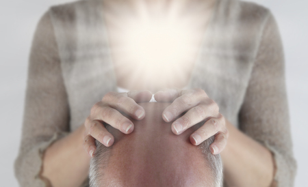Opening the Crown Chakra 스톡 콘텐츠