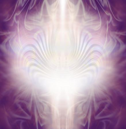 fond sacré de guérison - complexe dentelle rose magenta et pâle couleur or formation d'énergie de fond avec une colonne centrale