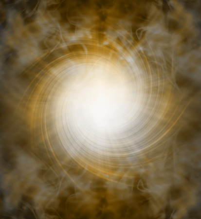 energized: Spiraling golden white light vortex background - bright white starburst emerging from dark brown and golden vortex with the appearance of an eye