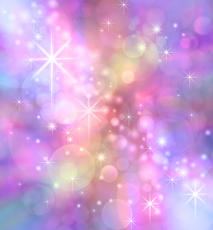 light hearted: Starry Sparkling Bokeh background -   Party theme multicolored feminine pinks purple bokeh effect  with sparkles