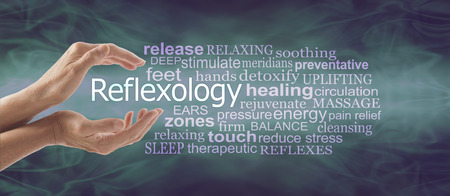Reflexology Therapy Word Tag Cloud Banner