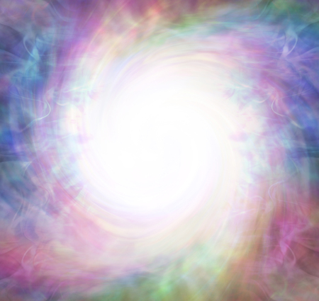 White Hole Spiritual Vortex Phenomenon  - background of ethereal gaseous rotating background with a bright white spiraling centre