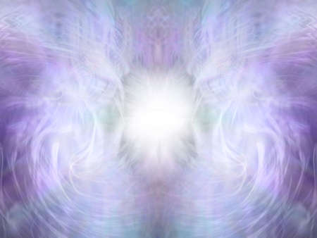 Angelic Lilac Spiritual Background - beautiful pale lilac and grey ethereal symmetrical pattern background with wispy lines and a bright white centre    ideal for Angel Healing diploma background