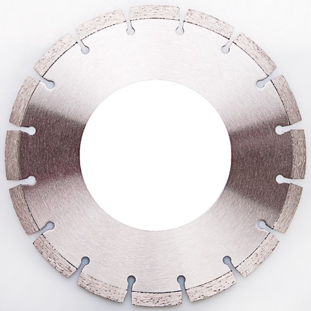 clr: disc of a circular saw on white background