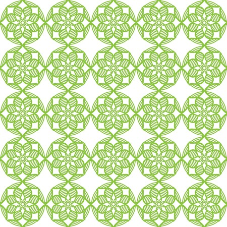 Seamless vector pattern background. Abstract decorative green circles on white background. Pattern is suitable for posters, postcards, fabric or wrapping paper. Seamless geometric line pattern. Contem