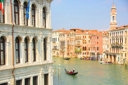 Grand Canal (Canal Grande) with Basilica Santa Maria della Salute, view from Ponte dell Accademia. Venice, Italy. 写真素材