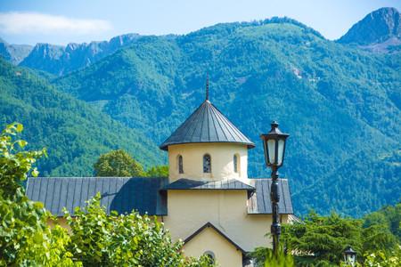 Serbian Orthodox monastery Moraca in Montenegro. Moraca Monastery is a Serbian Orthodox monastery located in the Moraca River in Kolasin, central Montenegro.