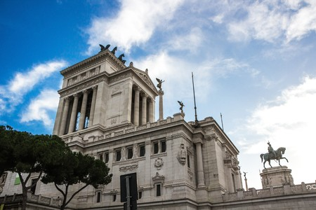National Monument to Victor Emmanuel II in Rome. The Altare della Patria (Altar of the Fatherland). Built in honour of Victor Emmanuel, the first king of a unified Italy.