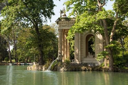 Tempio di Asclepio (Tempio di Esculapio) presso il Parco di Villa Borghese. Roma, Italia. Archivio Fotografico