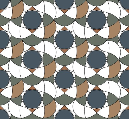 Vector seamless pattern. Abstract pattern with dark pastel colors.