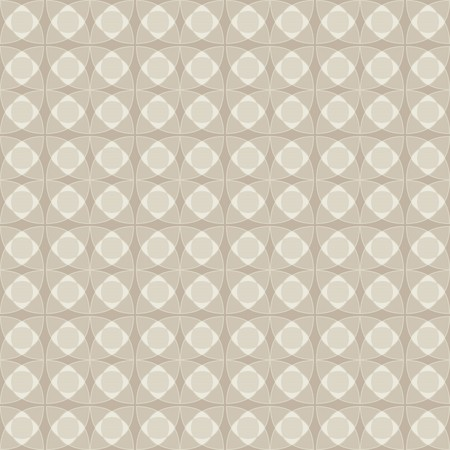 Linoleum seamless pattern, pastel beige color. Abstract geometric monochrome pattern of circular elements. 向量圖像