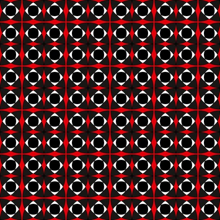Contrast modern tile pattern, dark blue, red, white, black colors. Geometric seamless vector pattern, contrasting bright colors. Endless texture, vector ornament.