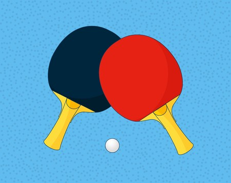 table tennis, vector illustration. Two table tennis rackets and 向量圖像