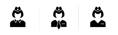 Vector simple icon of a woman train conductor.