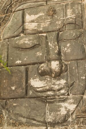 Buddha's face in temple of thailand. Stock Photo - 9844214