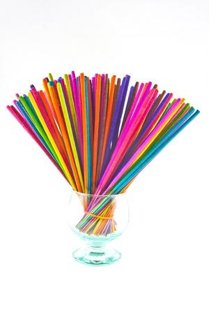 Incense Multicolored For the temple Stock Photo