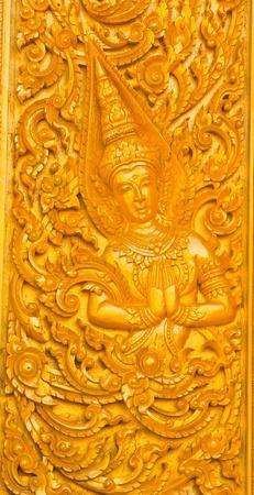 Thai art in temple ubon  thailand photo