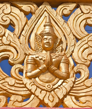 Thai art in temple ubon  thailand photo