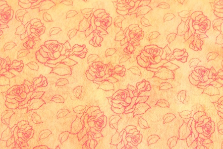 mulberry paper Striped roses. photo
