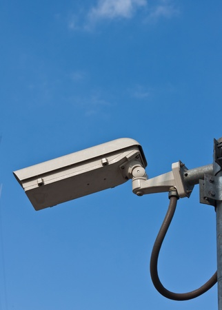 security camera and white sky  photo