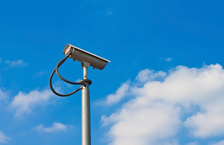 security camera and white sky Stock Photo - 11802211