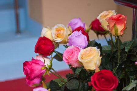 Artificial roses photo