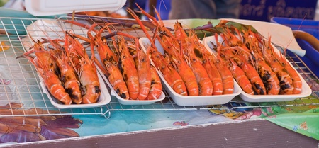 Mantis shrimp  in market in Thailand  photo