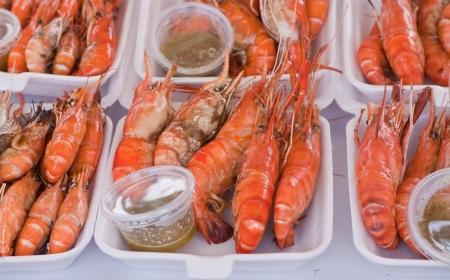 Mantis shrimp  in market in Thailand