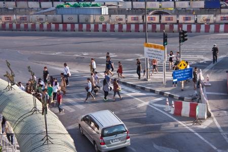 BANGKOK - DEC 23: Daily traffic jam in the afternoon on dec 23, 2012 in Bangkok, Thailand. Traffic jams remains constant problem in Bangkok despite rapid development of public transportation system.