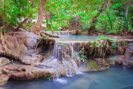Deep forest Waterfall in Kanchanaburi, Thailand Stock Photo - 17188177
