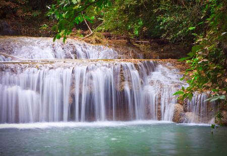 Deep forest Waterfall � Kanchanaburi, Tha�lande photo