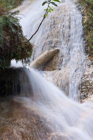 Deep forest Waterfall in Kanchanaburi, Thailand Stock Photo - 17157418