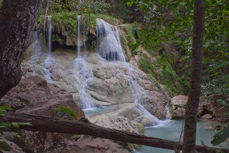Deep forest Waterfall in Kanchanaburi, Thailand  Stock Photo - 17157556