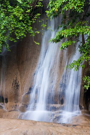 Deep forest Waterfall in Kanchanaburi, Thailand Stock Photo - 17157591
