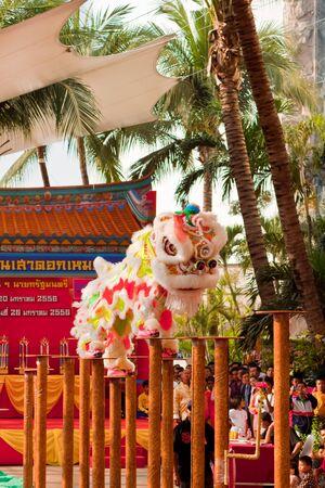 BANGKOK,/THAILAND-JANUARY 20:  lion dance dressing during parade in Chinese New Year Celebrations on January 20, 2013 in BANGKOK Stock Photo - 17713344